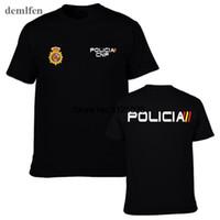 Espana Policia Испания Национальная полиция Espana Policia Спр UIP Upr Анти Бунт Спецназ Geo Goes Спецназ мужчин футболки Прохладный Тис Лучшие