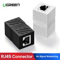 Ücretsiz nakliye RJ45 Konnektör Cat7 / / 5e 6 Ethernet Adaptörü 8P8C Ağ Genişletici Uzatma Kablosu Kadın Ethernet Kablo Bayan
