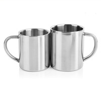 Double Wall Stainless Steel Tumblers 220 300 400ml Portable ...