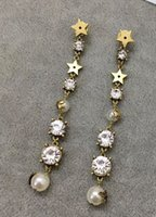 Hot sale Top brass material star and diamond with pearl and ...