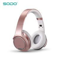 الأصلي SODO MH1 سماعة بلوتوث سماعة 2 في 1 تويست التدريجي سماعة لاسلكية مع ميكروفون NFC لهواوي سامسونج فون