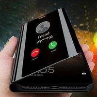 Akıllı Ayna Telefon Kılıfı için Onur V30 Pro 30Pro Artı 30 30s 4T Pro 20 20Pro Lüks Temizle Vaka İçin Onur 10x Pro 9x 8x Max 9c 9a 8c 8a oyna