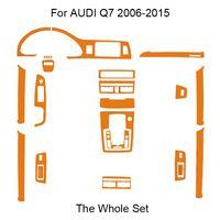 3D 4D 5D Karbon Elyaf Vinil İç Çıkartması Çıkartma için AUDI Q7 4L 2006-2015 Araç Dekorasyon Yükseltme / Koruma