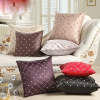 Vintage Style Home Decorative Pillow Fashion Geometric Squar...
