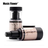Music Flower BB Основа для макияжа лица Oil-Control Полное покрытие Жидкая основа Плотно прилегающий оттенок кожи Корректор Бархатистая гладкая поверхность