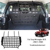 Séparation Pet noir Clôture net Coffre de voiture Cargo filet de sécurité pour Jeep Wrangler JK JL 2007-2018 Factory Outlet Accessoires voiture