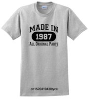 30th Birthday Gifts Made 1987 All Original Parts Cotton T- Sh...