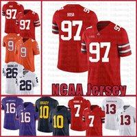 NCAA Ohio State Buckeyes 97 Nick Bosa 7 Dwayne HASKINS JR American Football Jersey 9 Travis Etienne Jr. Tom Brady Saquon Barkley Csegrt