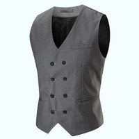 2019 New Europe Design Men Blazer Vest Slim Fit Suits V- neck...