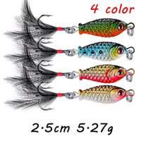 1pc 4 Colors Mixed 2. 5cm 5. 27g Jigs Metal Fishing Baits & Lu...