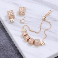 Top quality brass material punk bracelet with sparkly diaond and clasp design women summer jewelry necklace 925 silver earrings