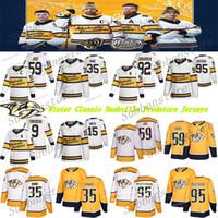 Winter Classic Nashville Predators Trikot 95 Matt Duchene 59 Roman Josi 92 Ryan Johansen 9 Filip Forsberg 35 Pekka Rinne Hockey-Trikots