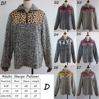 Winter leopard sherpa pullover sunflower fleece sherpa cow p...