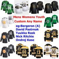 2020 Aziz Patrick Günü Boston Bruins Hokeyi Formalar Bayan Nick Ritchie Jersey Ondrej Kase David Pastrňák Zdeno Hara Brad Marchand Özel