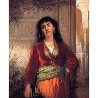 Il compagno Unwelcome (una scena di strada al Cairo) pittura a olio dipinta a mano John William Waterhouse dipinti signora opera d'arte per la decorazione della parete