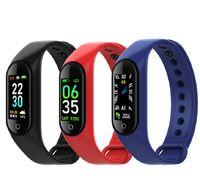 M4 Smart Bracelet Fitness Tracker PK MI Band 4 Fitbit Style Sport Smart Orologio Smart 0.96 pollici IP67 Frequenza cardiaca impermeabile Pressione sanguigna