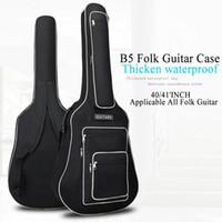 40 Pulgadas / 41 Pulgadas Bolsa de Guitarra Funda de transporte Mochila Oxford Acústica Folk Guitarra Gig Bolsa cubierta con correas de doble hombro Venta caliente