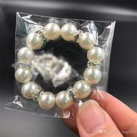 300Pcs / Lot weiße Perlen Serviettenringe Hochzeit Serviette Schnalle für die Hochzeit Partei Tischdekorationen Supplies I121