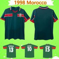 1998 MAROCCO Retro Soccer Jersey 98 99 Maroc Hadji Bassir Ouakili Neqrouz Abrami Vintage Vintage Vecchia camicia da calcio