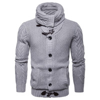 Mais novo Design Cardigan Malhas Europa e América Único Breasted Sweatercoat Homens Botão Outono Camisola De Malha Elástica Masculino XXL