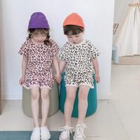 Kinder-Designerkleidung für Jungen Leopard Tops Shorts 2ST Sets Short Sleeve Mädchen Anzug Causal Kinder Outfits Boutique Kid Kleidung YW3800-L