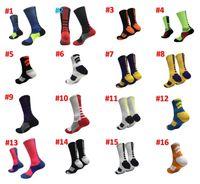 الأسهم في الاتحاد الأوروبي الولايات المتحدة الأمريكية المهني النخبة لكرة السلة جوارب الركبة لونغ الرياضة رياضية الجوارب أزياء الرجال المشي الجري التنس الجوارب مصمم
