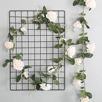 Wisteria rosa vid flor de mimbre guirnalda de seda artificial rosa flores 1.8 m para la boda decoración del hogar pared decoraciones del partido