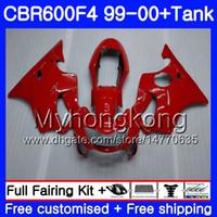Bodys + Tankı HONDA CBR 600 F4 Için FS CBR 600F4 TÜM Parlak kırmızı sıcak CBR600F4 99 00 287HM.52 CBR600FS CBR600 F 4 CBR600 F4 1999 2000 Fairing kiti