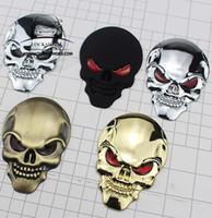 Auto Metallo 3D Personalità Tag Skull Moto Adesivi per auto Ghost Head Car Tail Bagaglio Decorazione adesivi adesivi