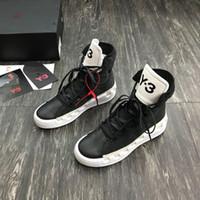 2019 nouveau fashionY3 Chaussures Casual Bottes Kanye West Y-3 Rouge Blanc Noir Haut-Top Hommes Chaussures de sport en cuir véritable imperméable