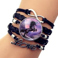 Unicorn Time Gem Pulsera trenzada Cartoon Infinite Love Pulsera multicapa Joyería