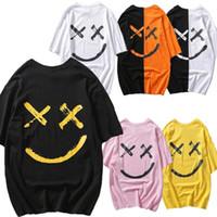 Mens der neue Art-Art und Weise heiße T-Shirts Freizeit Crewneck Short Sleeve Hip Hop-Druck lose beiläufig T Male Tops