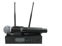 QLXD4 UHF Profesyonel Kablosuz Mikrofon Sistemi Ile BETA58A QLX El Verici Sahne Canlı Vokal Karaoke Konuşma Için