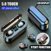 HA 블루투스 V5.0 이어폰 무선 이어폰 스테레오 스포츠 무선 헤드폰 이어폰 헤드셋 아이폰 샤오 미 2000 MAH 전원