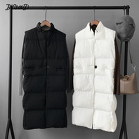 Harajuku Casual Long Cotton Vest Women Fashion 2018 Autunno Inverno caldo cappotto donna gilet donna Slim Black Plus Size Jacket
