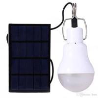 15W 130lm Lampe solaire Powered Ampoule LED Portable lumière solaire éclairage LED Panneau solaire Camp Tente pêche de nuit Lumière