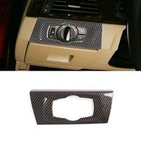 Karbon Elyaf Renk Kafa Lambası swtich Dekoratif Çerçeve Kapak Trim için BMW 3 serisi E90 2005-2012 LHD İç Dekorasyon Sticker