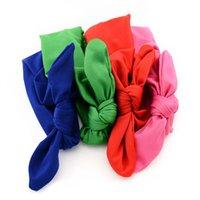 Bandes bébé nouveau-né enfant bandeau élastique bandeau de coton bronzage de lapin oreilles turban bandeau nœud tête de tête coréenne accessoires de cheveux coréens