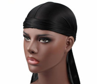 Новая мода мужская атласная дюрагс бандана тюрбан парики женщины шелковистые головные уборы дураг повязка на голову пиратская шляпа аксессуары для волос