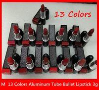 Lèvre Maquillage Matte Lipstick Lustre Retro Bullet Retro Régule Sexy 13 couleurs 3G de haute qualité