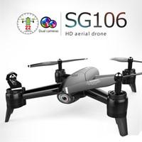 التحكم عن اللعب SG106 UAV 22mins 1080P / 4K الطيران RC الطائرة بدون طيار RTF التدفق الضوئي / الارتفاع عقد HD كاميرات مزدوجة لفتة صور RC طائرات الهليكوبتر