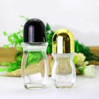 زجاجات الروائح الزجاج الملء عبوات زجاجات مسلسل مقاوم للسكاكاة القابلة لإعادة الاستخدام مع كرة الأسطوانة