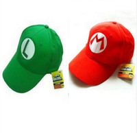 Super cartoon Bros Adult Kids Costume Hat Anime Cosplay Cappellino da baseball rosso