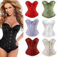 Abbigliamento X Donne sexy steampunk gotico Plus Size corsetti stringati Overbust disossato Bustier Cincher della vita Corpo shaper corselet S-6XL