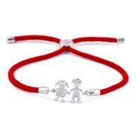 الكورية نمط أزياء بسيطة بارد مزدوجة الزركون الأحمر حبل سوار أزياء كل مباراة نمط جديد أنثى سوار الملحقات BRB05