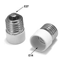 Freeshipping 100pcs E27 a E14 Adattatore E26 a E14 della lampada del convertitore alimentatore della base dello zoccolo LED E27 a E27 estendere Plug