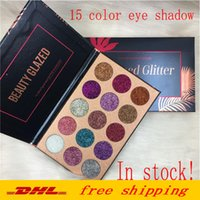 Güzellik Sırlı Glitter Enjeksiyonları Preslenmiş Glitters Göz Farı Elmas Gökkuşağı Makyaj Kozmetik 15 Renkler Göz Farı Mıknatıs Paleti DHL