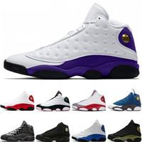 13 13s Yeni Lakers Şapkanız Chicago Hiper Kraliyet Kara Kedi Flints DMP Erkek Spor Sneakers 40-47 Bred basketbol ayakkabıları Rakipler