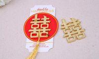 100 pz cinese asiatico a tema doppia felicità bottle opener Wedding Party Favors omaggi di nozze spedizione gratuita SN208