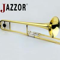 المهنية JAZZOR JBSL-a700 ألتو ترومبون ب شقة الذهب ورنيش النحاس الترومبون الآلات الموسيقية مع الناطقة بلسان